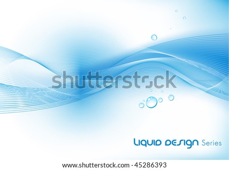 Abstract Clean Liquid Vector Wave Background