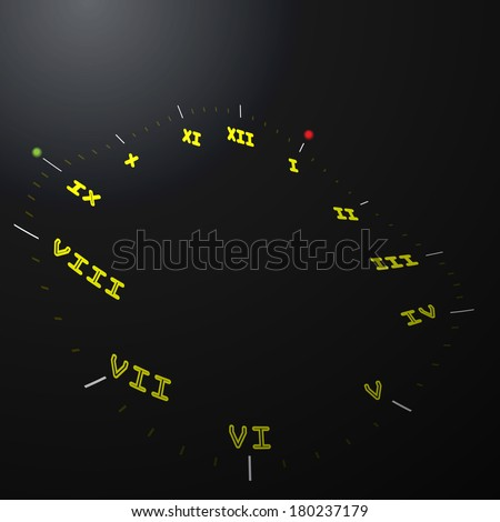Abstract clock background - conceptual vector  - stock vector