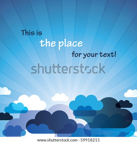 Abstract Cloud Background Vector - stock vector