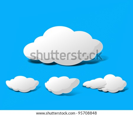 Abstract Cloud Background Vector illustration. - stock vector