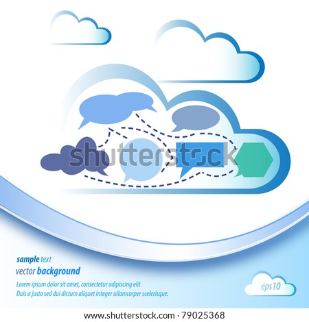 Abstract cloud computing - stock vector