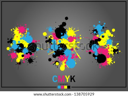 Abstract CMYK - stock vector
