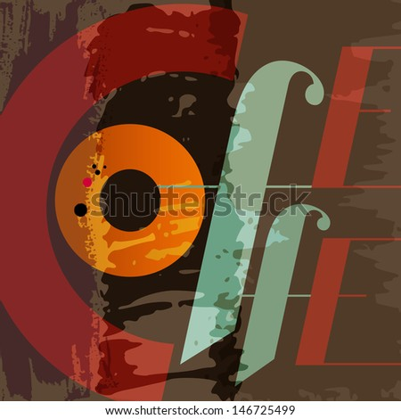 abstract coffee background, design template, grungy - stock vector