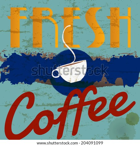 abstract coffee background, design template, grungy, with strokes and splashes - stock vector