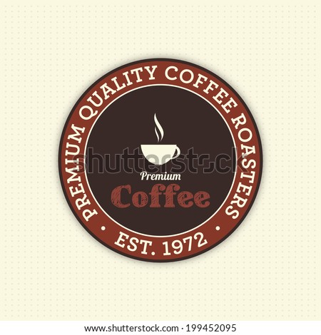 abstract coffee label on a special background