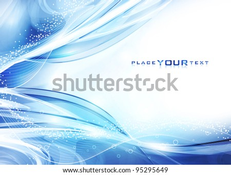 Abstract cold water. Vector