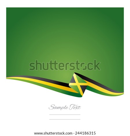 Abstract color background Jamaica flag - stock vector