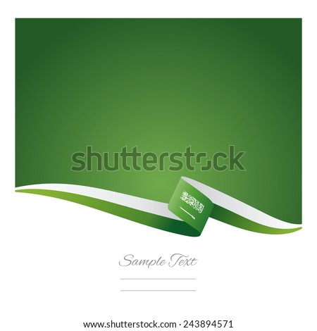 Abstract color background Saudi Arabia flag - stock vector