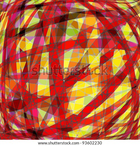 Abstract color background, simulated stained-glass window technique. Vector illustration
