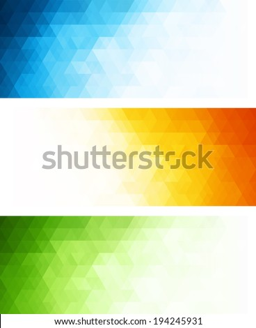 Abstract color banner - stock vector