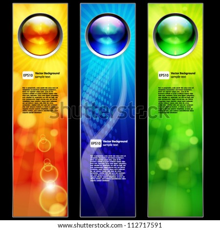 Abstract color banners for your design. - stock vector