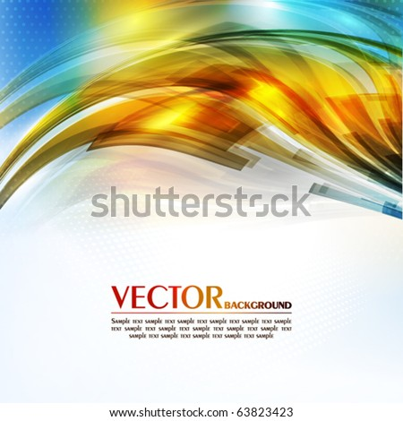Abstract color card. Vector