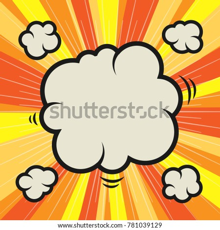 Abstract color cartoon comic background, vector illustration