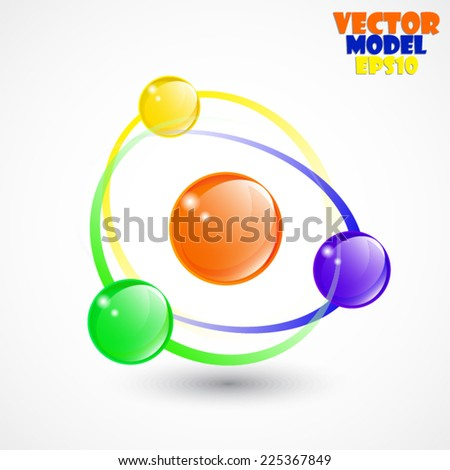 abstract color globes/ symbol/ vector illustration - stock vector