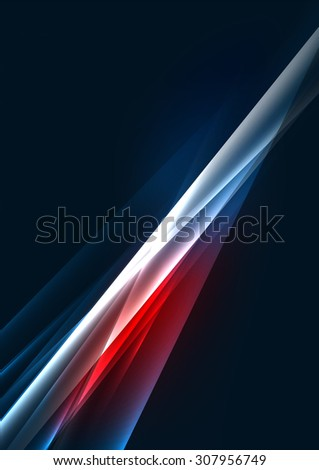 Abstract color glowing lines in dark space with stars and light effects. Futuristic background with copyspace for your message - stock vector