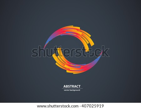 Abstract color light background Logo Abstract Business Technology icon - stock vector