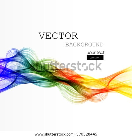 Abstract color lines wave design easy editable - stock vector
