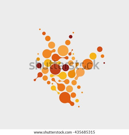 abstract color on white molecules. - stock vector