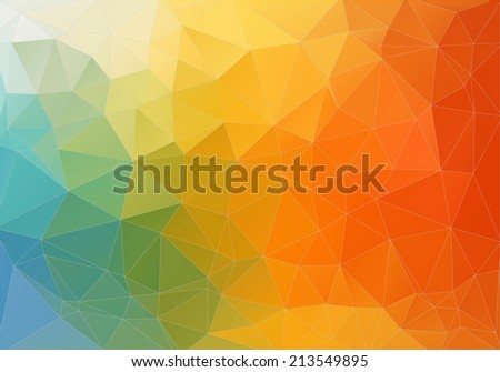 Abstract color polygonal background. Triangles background for your design - stock vector