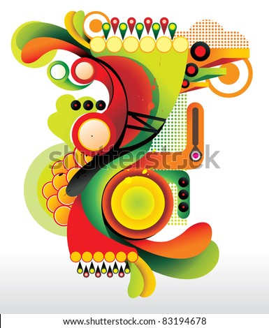 abstract color shapes vector