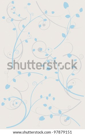 Abstract color spring background with branches and leaves eps 10