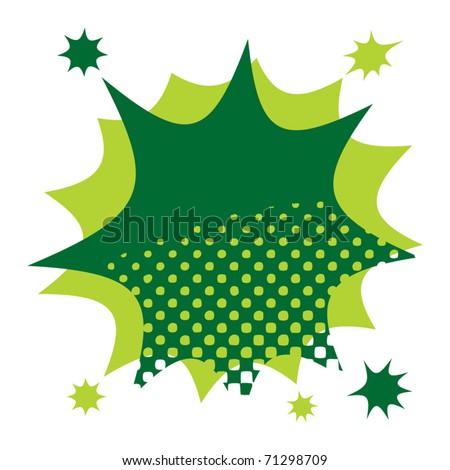 Abstract color star burst, vector illustration - stock vector