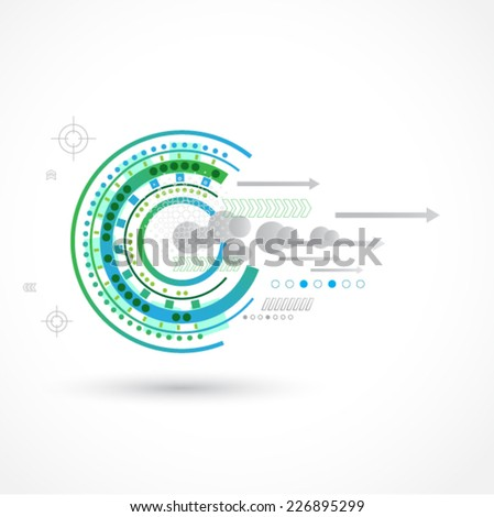 Abstract color technology background - stock vector