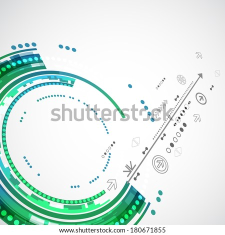 Abstract color technology background/computer technology business background - stock vector