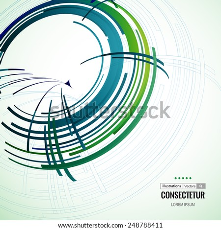 Abstract color technology Background for Business Brochure or Cover. Design elements with spiral motion.  EPS10. - stock vector