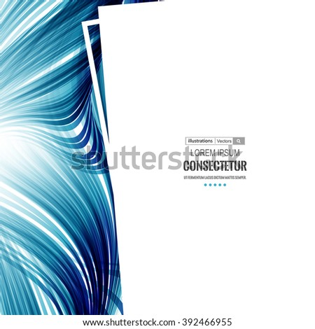 Abstract color technology Background for Business Brochure or Cover. Futuristic color wave. EPS10. - stock vector