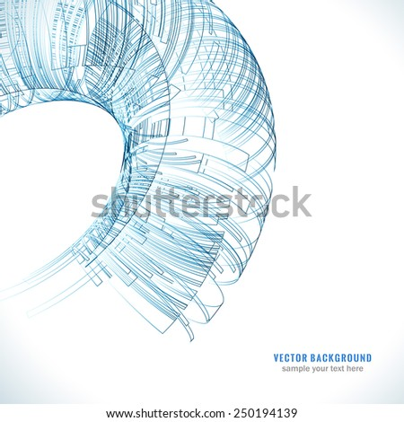 Abstract color technology Background for business brochure or Cover. Vector illustration for your design. EPS10. - stock vector