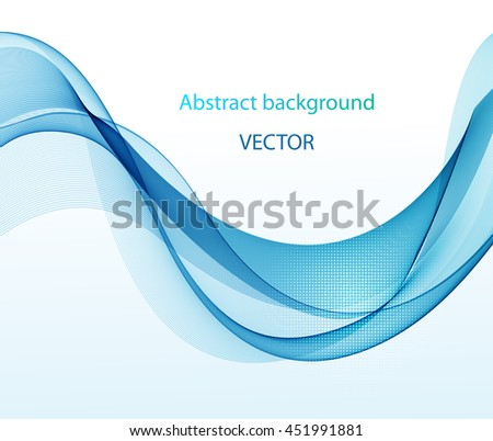 Abstract color wave image on a light background
