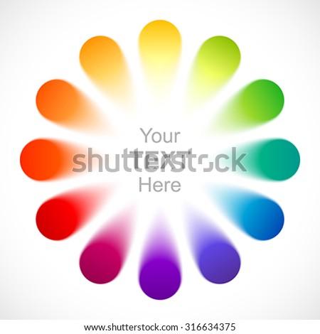 Abstract color wheel. - stock vector