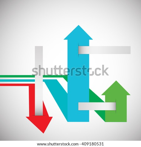 abstract colored arrows for business. vector illustration - stock vector