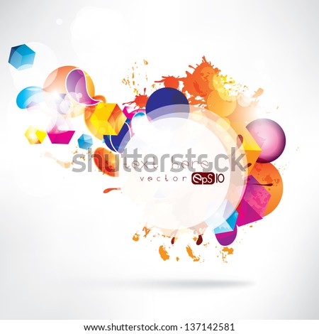 Abstract colored background - stock vector