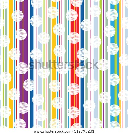 Abstract colored background vector with colored vertical stripes and polka dot.. - stock vector