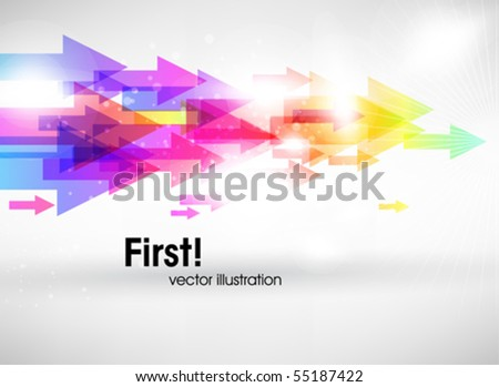 Abstract colored background with arrows - stock vector