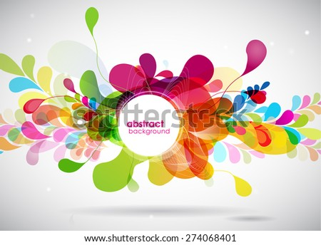 abstract colored background with circles. - stock vector