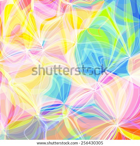 Abstract colored bright summer background - stock vector