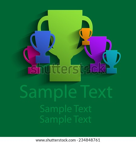 Abstract colored cups - stock vector