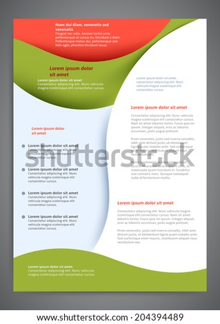 Abstract colored flyer template for your business