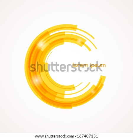 Abstract colored shape for your business idea. Vector editable logo illustration. - stock vector