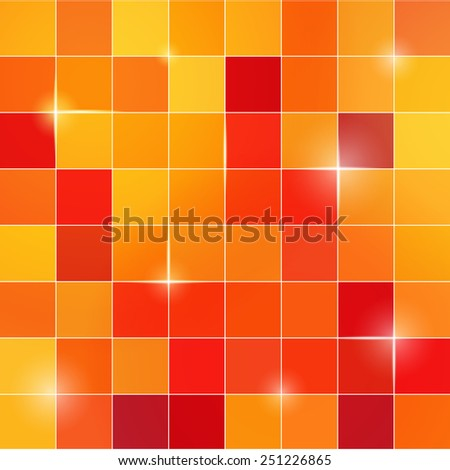Abstract colored square pixel mosaic background - stock vector