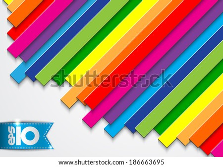 Abstract colored stripes - stock vector