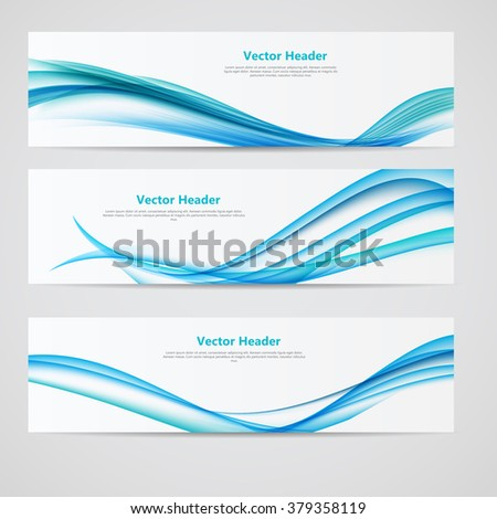 Abstract Colored Wave Header Background. Vector Illustration. EPS10 - stock vector
