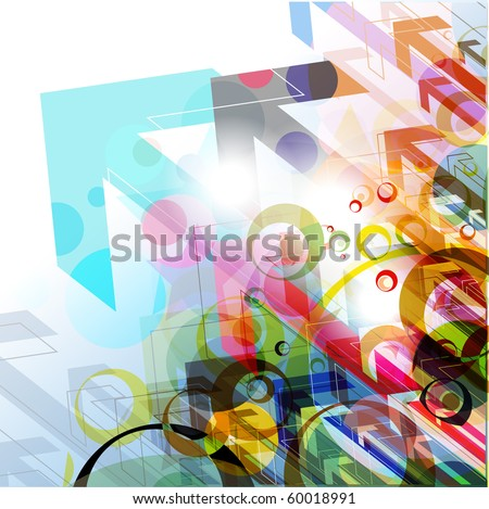 Abstract colorful arrow background, Vector illustration. - stock vector
