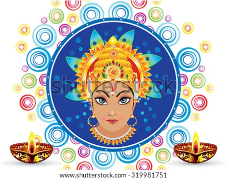 abstract colorful artistic durga background vector illustration - stock vector