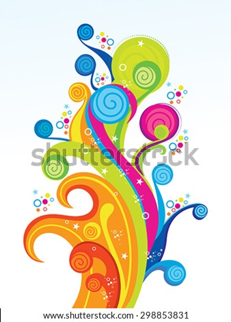 abstract colorful artistic explode vector illustration