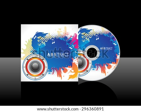 abstract colorful artistic music cd vector illustration - stock vector