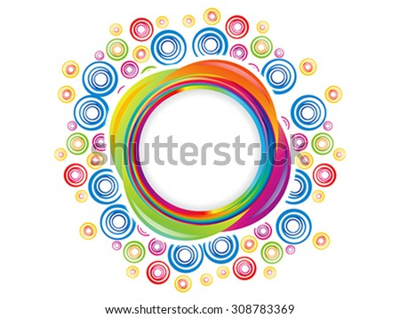 abstract colorful artistic rainbow circle explode vector illustration - stock vector